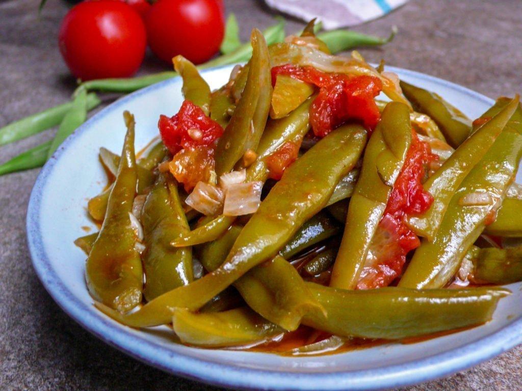 Ferske grønne bønner i olivenolje (1 of 1)
