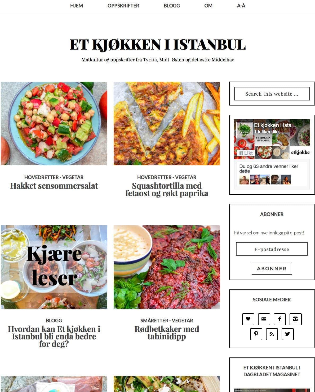 Et kjøkken i Istanbul v2 - design tidlig 2016