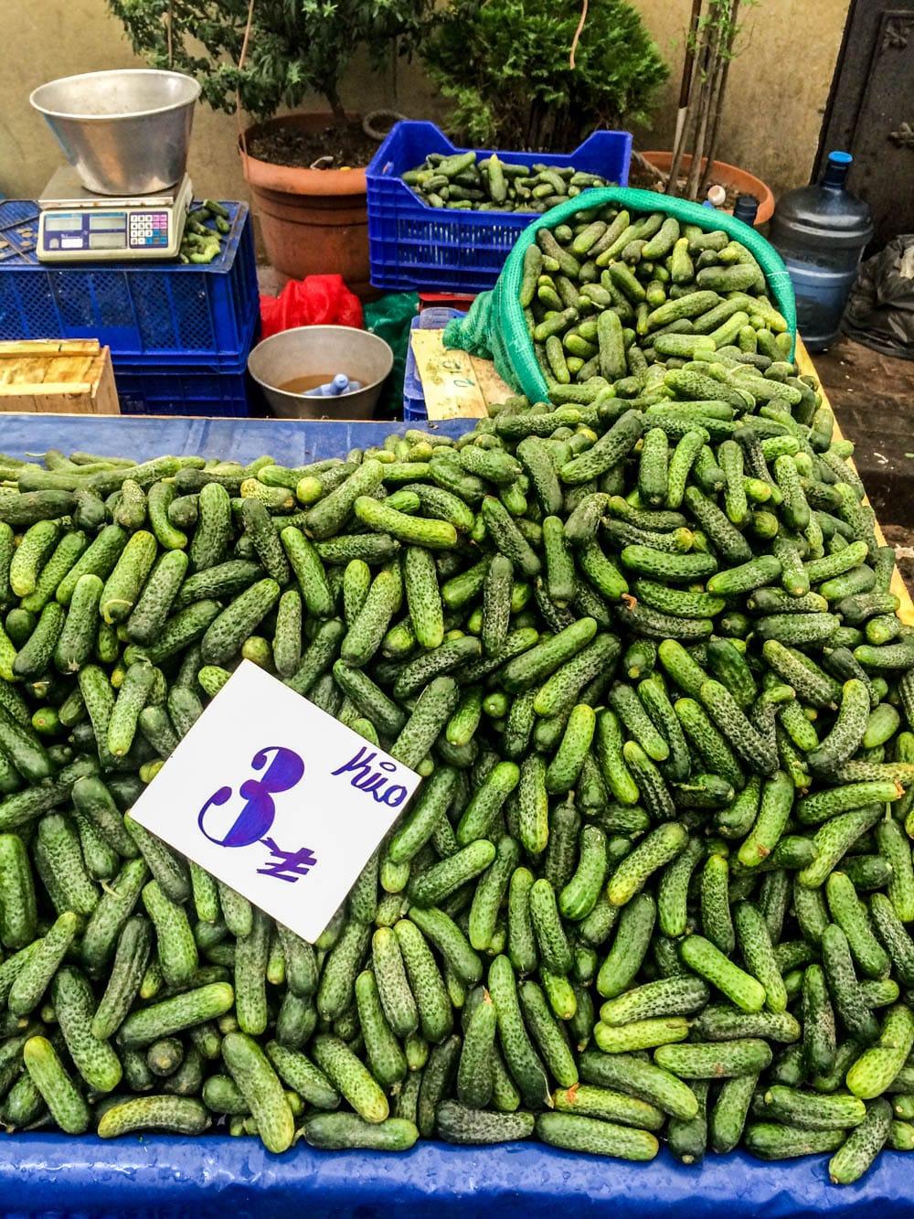 Lokalt marked i Istanbul oktober 2016 / Et kjøkken i Istanbul