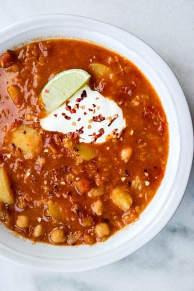Linsegryte med curry, kikerter og potet fra Green Bonanza