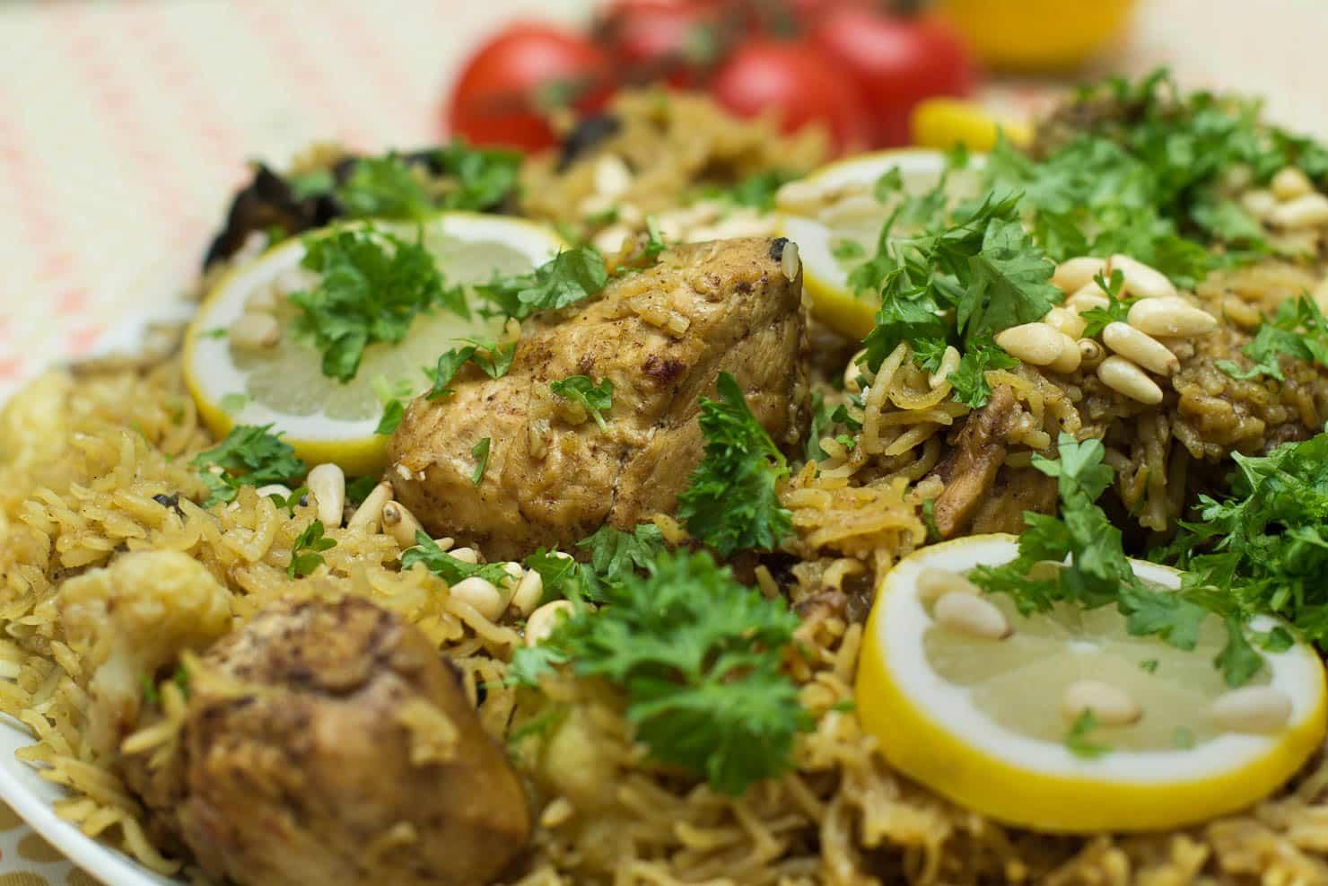 Kokebloggen – Maqluba (opp-nedkake med ris og kylling)