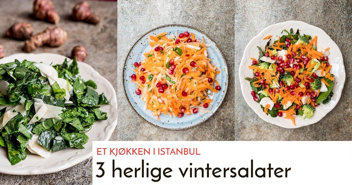 3 vintersalater - oppskrifter / Et kjøkken i Istanbul