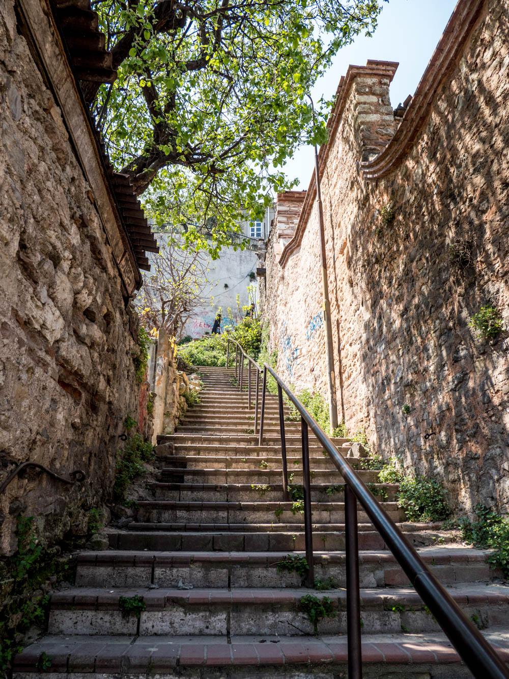 Trappeoppgang ved den greske skolen i Balat / Fener, Istanbul