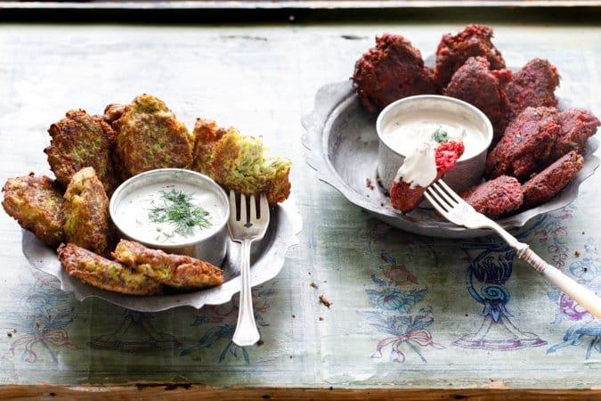 Squashburgere og rødbetburgere fra «Hummus og granateple» av Vidar Bergum