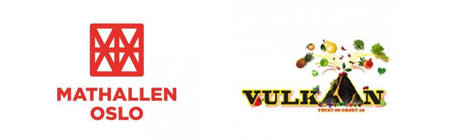 Logo Mathallen og Vulkan Frukt & Grønt
