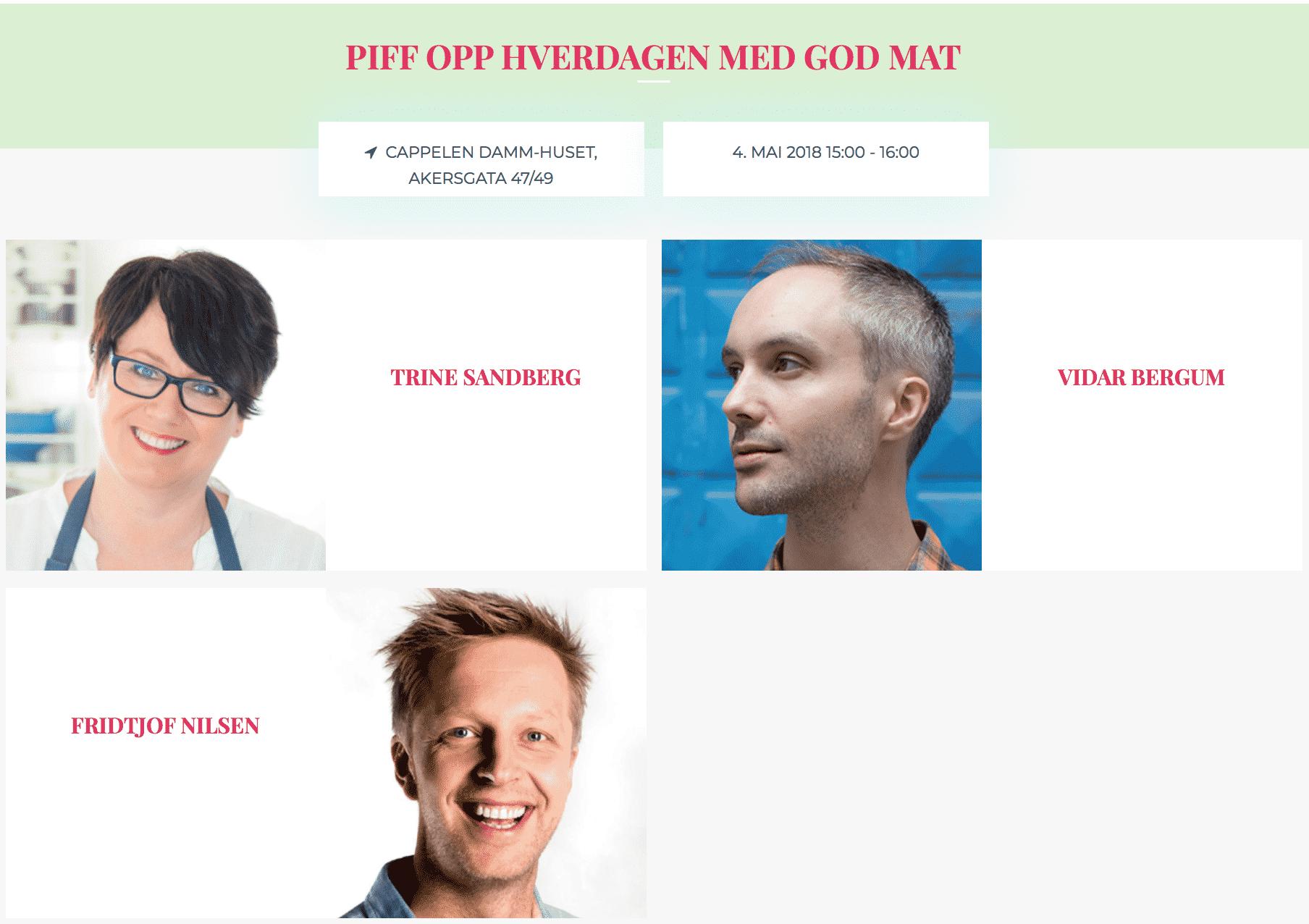 Vårfestivalen Vidar Bergum Trine Sandberg Fridtjof Nilsen