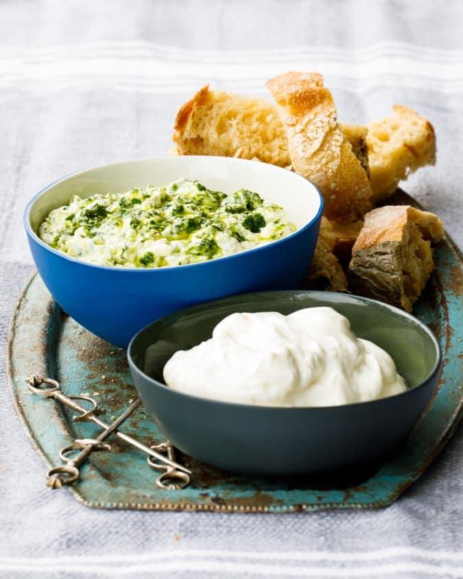 Labneh med urter fra Hummus & granateple av Vidar Bergum. Foto: Bahar Kitapcı