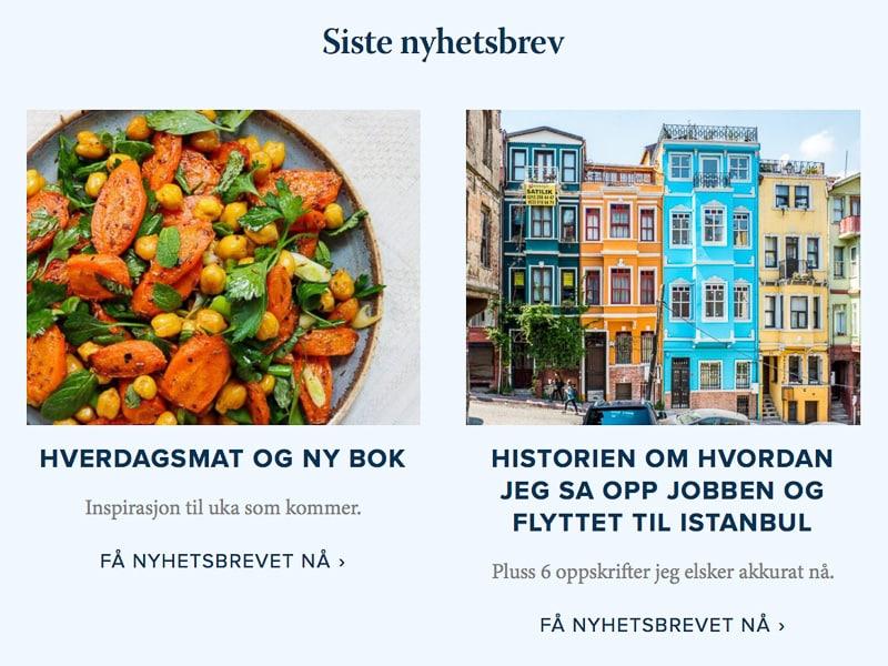 Et kjøkken i Istanbul ny forside - siste nyhetsbrev
